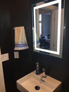 Led integrated mirror
