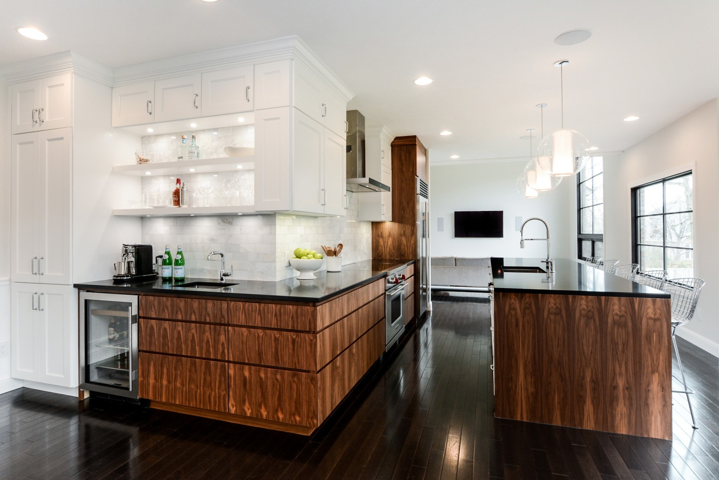 White and Wood Kitchen Remodel